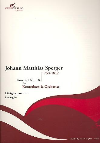 Konzert c-Moll Nr.18: für Kontrabass und Orchester
