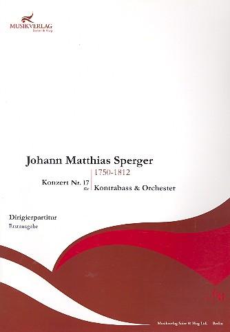 Konzert A-Dur Nr.17: für Kontrabass und Orchester