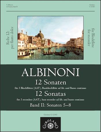12 Sonaten Band 2 (Nr.5-8): für 3-4 Blockflöten (AATB) und Bc