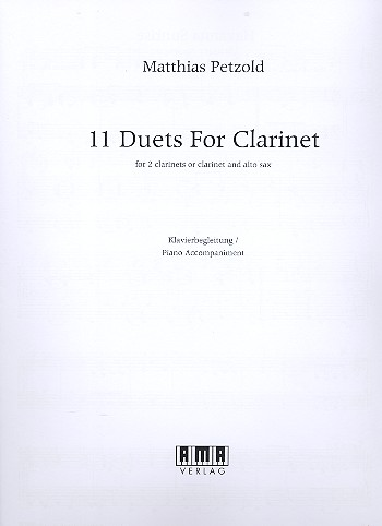 11 Duets: for 2 clarinets (clarinet and alto saxophone) (piano ad lib)