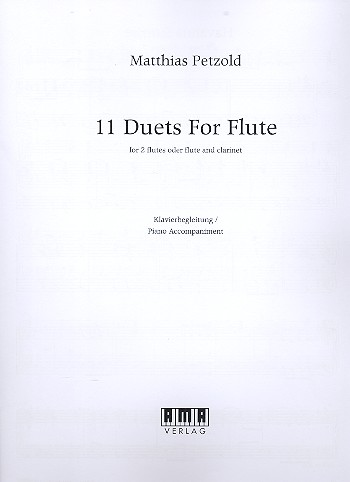 11 Duets: for 2 flutes (flute and clarinet (piano ad lib)