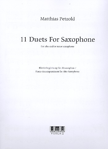 11 Duets: for 2 saxophones (alto and/or tenor)