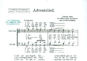 Adventslied: für Männerchor a cappella