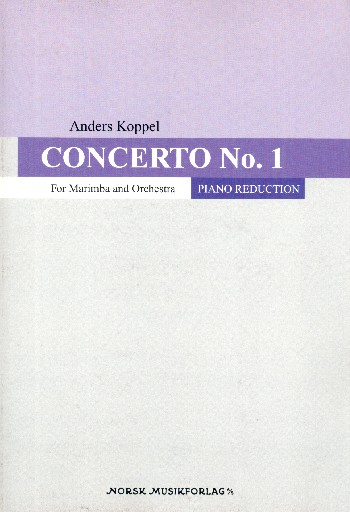 Concerto no.1 for marimba and orchestra: for marimba and piano