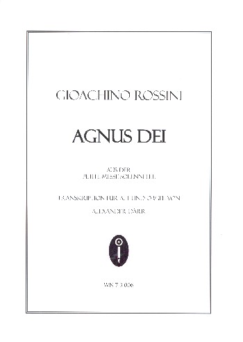 Agnus Dei: für Alt und Orgel