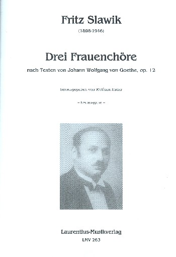 3 Frauenchöre opus.12: für Frauenchor a cappella
