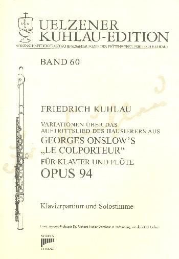 Colporteur-Variationen opus.94: für Flöte und Klavier
