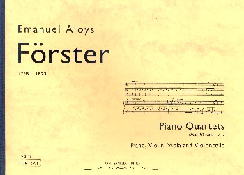 2 Piano Quartets opus.10 (no.1 and 2): for violin, viola, cello and piano