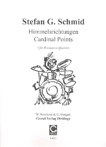 Himmelsrichtungen: für 4 Percussionisten