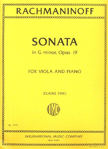 Sonata in G minor op.19 : - Vollanzeige.