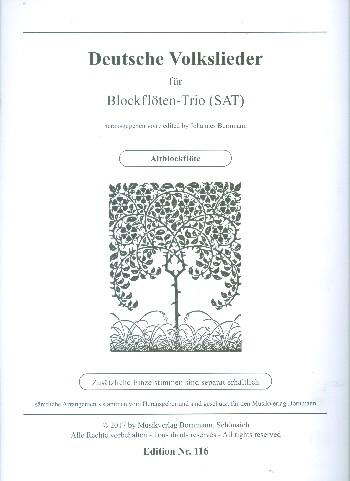 MVB116A Deutsche Volkslieder: für 3 Blockflöten (SAT)