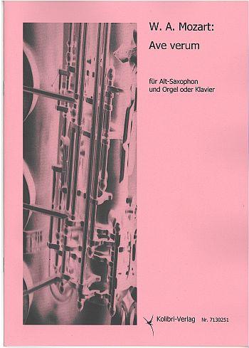 KOL7130251 Ave verum: für Altsaxophon und Orgel (Klavier)