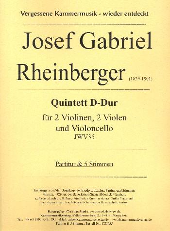 Rheinberger, Joseph Gabriel - Quintett D-Dur JWV35 :