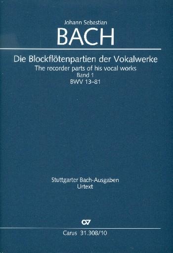 Die Blockflötenpartien der Vokalwerke Band 1-4 : - Vollanzeige.