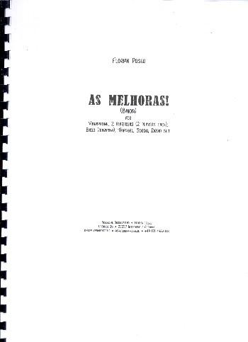 As melhoras: für Percussion-Ensemble (9 Spieler)