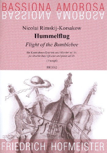 Hummelflug: für 4 Kontrabässe und Klavier
