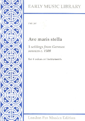 Ave maris stella: for 4 voices (instruments)