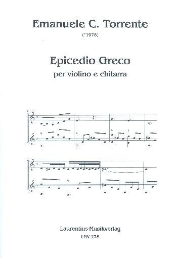 Epicedio Greco : - Vollanzeige.