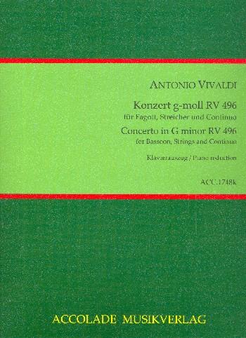 Konzert g-Moll RV496 für Fagott, Streicher und Cembalo: für Fagott und Klavier