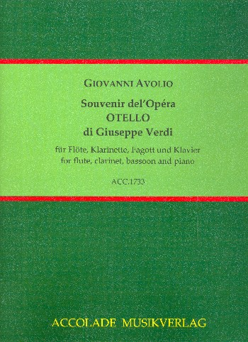 Souvenir del'Opéra Otello die Giuseppe Verdi : - Vollanzeige.