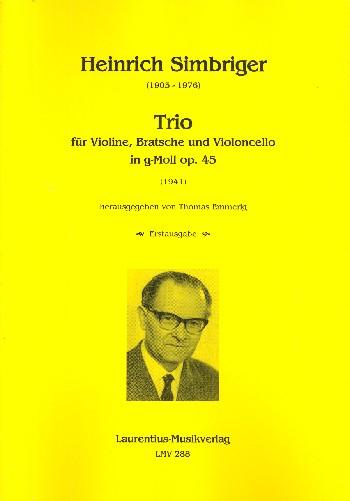 Trio g-Moll op.45 : - Vollanzeige.