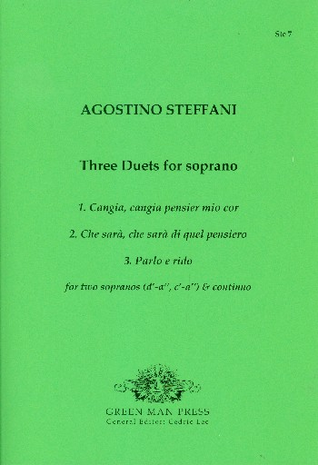 3 Duets: for 2 sopranos and Bc