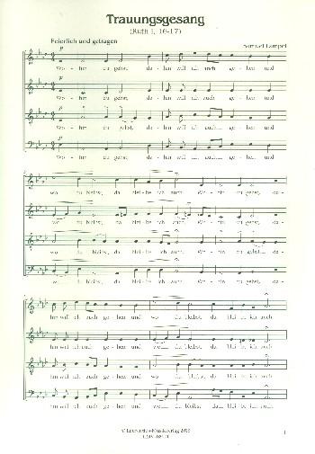 Trauungsgesang: für gem Chor a cappella