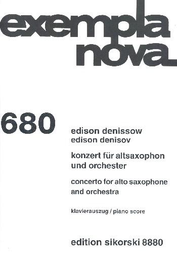 Konzert für Altsaxophon und Orchester: für Altsaxophon und Klavier