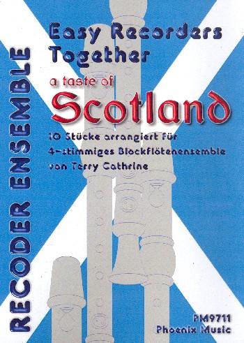 A Taste of Scotland: für 4-12 Blockflöten (SSAT) (4-stimmiges Ensemble) (Klavier ad lib)