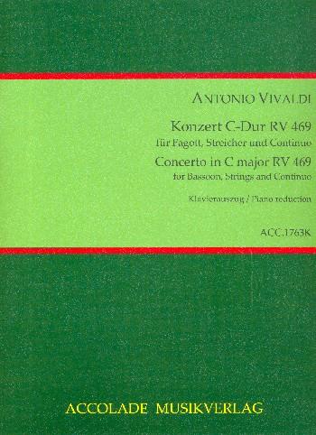 Konzert C-Dur RV469 für Fagott, Streicher und Cembalo: für Fagott und klavier