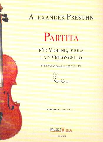 Partita: für Violine, Viola und Violoncello