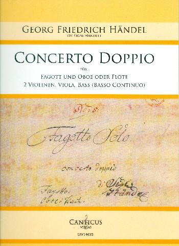 Concerto doppio: für Fagott, Oboe (Flöte), 2 Violinen, Viola und Bass (Bc)