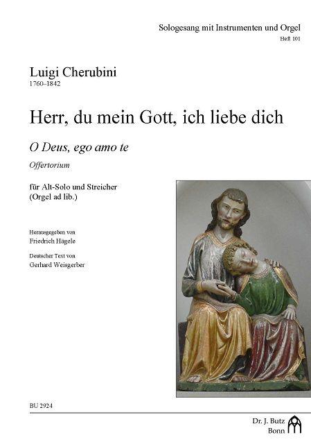 Herr du mein Gott ich liebe dich: für Alt und Streicher (Orgel ad lib)
