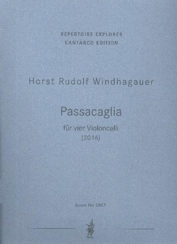 Passacaglia: für 4 Violoncelli