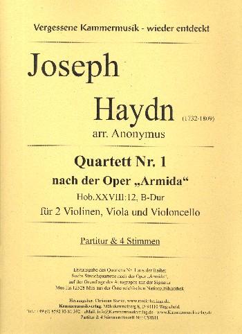 Quartett B-Dur Nr.1 Hob.XXVIII:12: für 2 Violinen, Viola und Violoncello