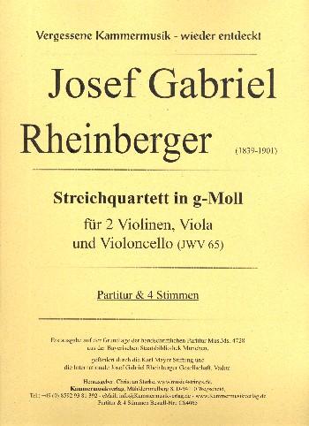Streichquartett g-Moll JWV65: für 2 Violinen, Viola und Violoncello