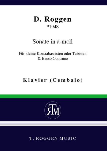 Sonate a-Moll für kleine Kontrabassisten : - Vollanzeige.