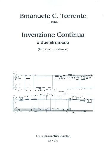 Torrente, Emanuele C. - Invenzione continua a due strumenti :