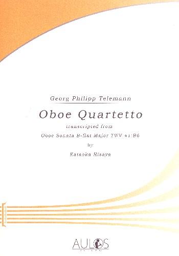 Quartett B-Dur TWV41:B6 : - Vollanzeige.