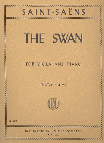 Saint-Saens, Camille - The Swan : for viola and piano