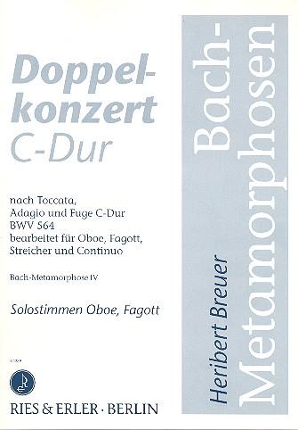 Doppelkonzert C-Dur: für Oboe/Fagott/Streicher/Continuo