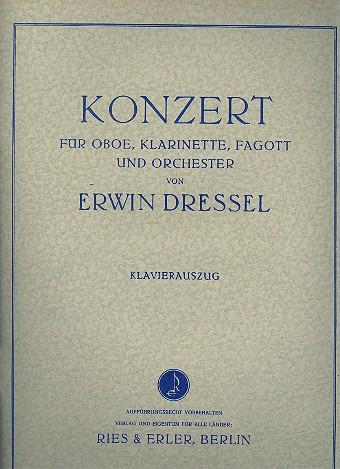 Konzert: für Oboe, Klarinette, Fagott und Orchester