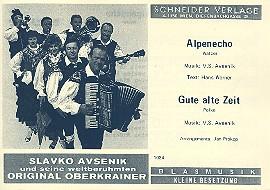 Alpenecho und Gute alte Zeit: für Oberkrainer Besetzung