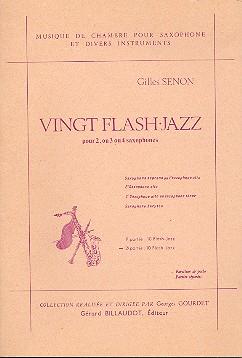 20 Flash Jazz vol.2: pour 2-4 saxophones partition de poche