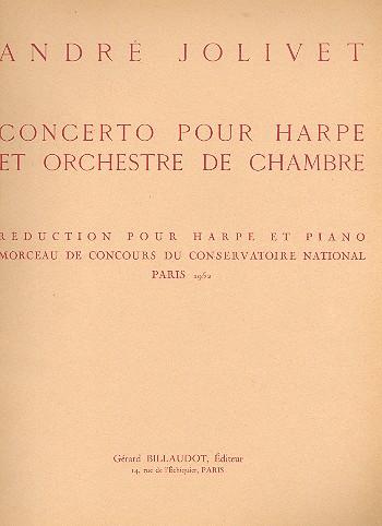 Concerto pour harpe et orchestre de chambre: pour harpe et piano
