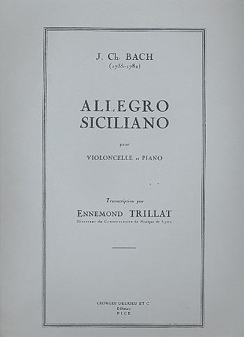 Allegro siciliano: pour violoncelle et piano