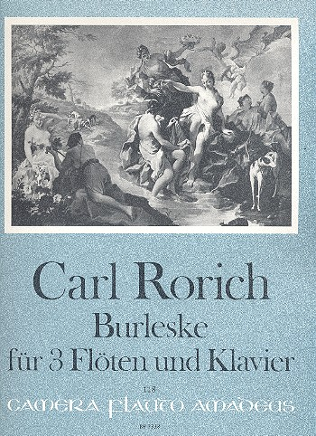 Burleske opus. 64: für 3 Flöten und Klavier Partitur und Stimmen