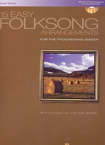 15 Easy Folksong Arrangements (+CD): for low voice and piano
