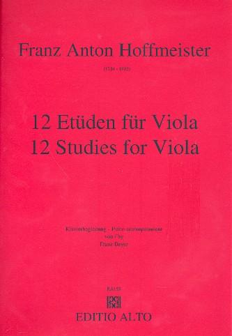 12 Etüden für Viola: Klavierbegleitung