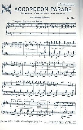 Akkordeon-Parade: für Akkordeon und Klavier
